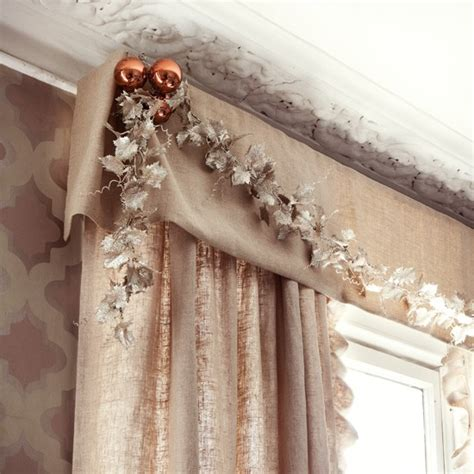 how to decorate curtains christmas curtain timeless christmas decorating