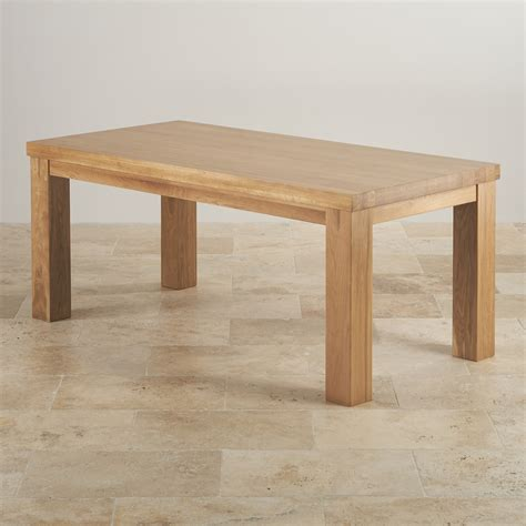 wood dining tables contemporary chunky 6ft solid oak