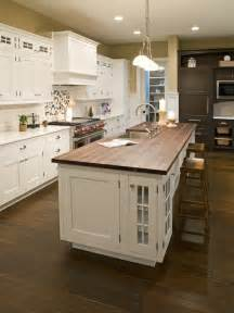 kitchen butcher block island white kitchen with stained butcher block island design i