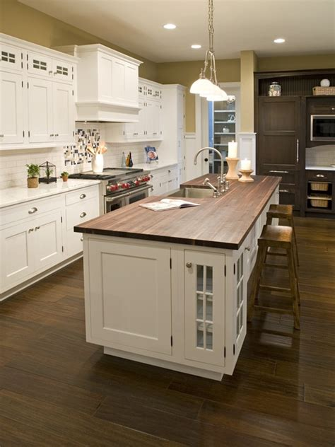 kitchen butchers blocks islands white kitchen with stained butcher block island design i