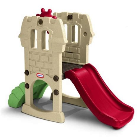 little tikes swing and slide castle outdoor toddler playsets home garden life