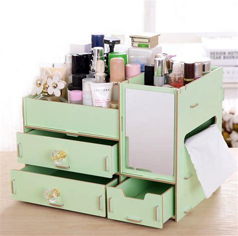 Rak Kosmetik Organizer jual rak kayu kosmetik 058 cermin tissue diy cosmetic