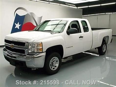 how make cars 2008 chevrolet silverado 2500 auto manual sell used 2008 chevy silverado 2500 extended cab 6 pass 62k miles texas direct auto in stafford