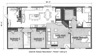 4 bedroom mobile home floor plans viewing gallery 4 room house plans home plans homepw26051 2 974 square