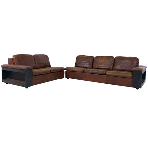 Cool Sectional Sofas Cool Leather Sofa With Bookcase In The Back Two Parts For Sale At 1stdibs