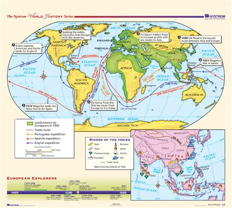 the ottoman age of exploration nystrom modern world history map set nystrom education