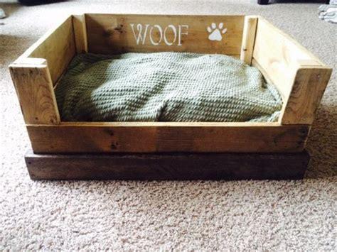 dog bed diy diy reclaimed wooden pallet dog bed plans pallets designs