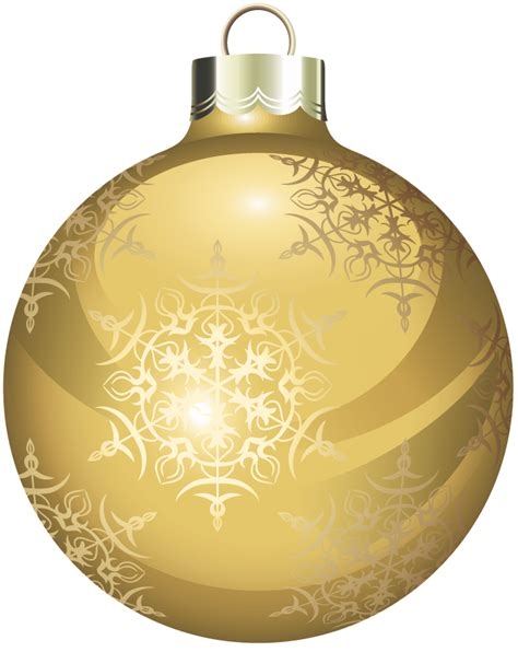 gold christmas balls clipart
