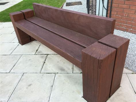 sleeper bench liverpool railway sleeper seats benches