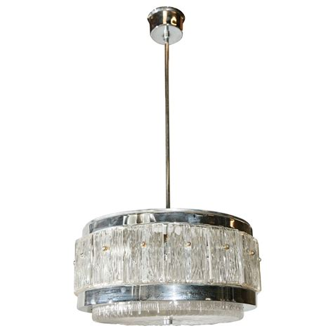 Chrome Chandeliers Chrome And Glass Chandelier For Sale At 1stdibs