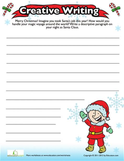 christmas writing prompt christmas writing worksheets