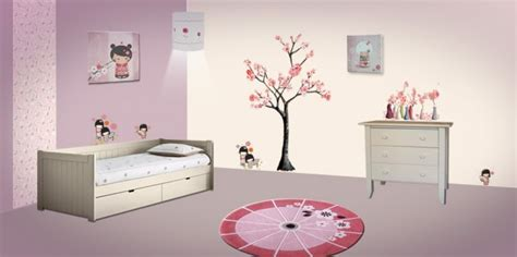 Home Decoration Stickers by D 233 Co Chambre Fille Kokeshi