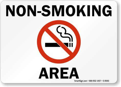 no smoking labels non smoking area sku s 9593