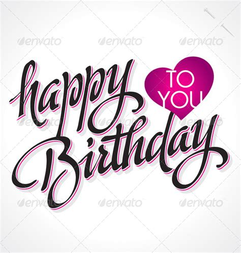 'Happy Birthday' Hand Lettering (vector)   GraphicRiver