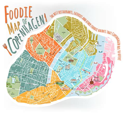 copenhagen map a foodie map of copenhagen expedia dk