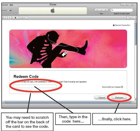 What Can I Use Itunes Gift Cards For - redeeming an itunes gift card iphone 4
