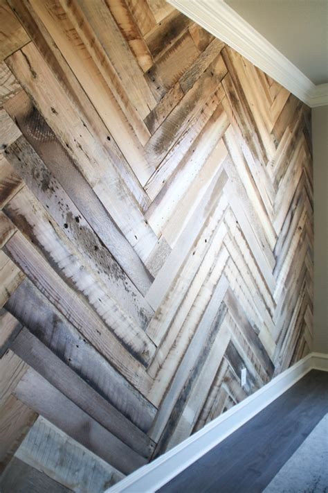 herringbone pattern wall diy barn wood herringbone wall treatment and a giveaway