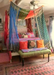 Babylon sisters vintage sari bed canopy