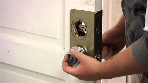 How To Replace A Front Door Knob by How To Install An Exterior Door Knob Dead Bolt Door