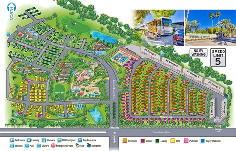 emerald resort map before you book get a lay of the land at emerald desert rv