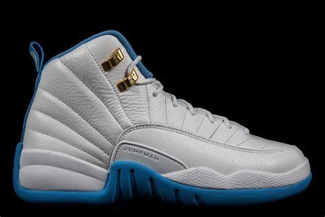 air 12 white baby blue air 12 gs white metallic gold blue