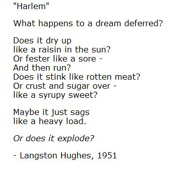 themes in a raisin in the sun by lorraine hansberry consider the langston hughes poem reprinted in the