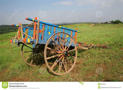 indian cart color decorated rural bullock cart india stock photo