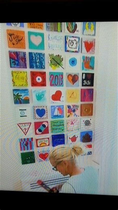Yolanda Foster Wall Of Paintings | homemade canvas wall art and housewife on pinterest