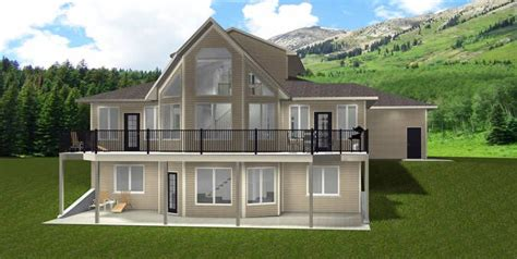 house plan 2014843 1 1 2 storey walkout by edesignsplans ca oversize garage second
