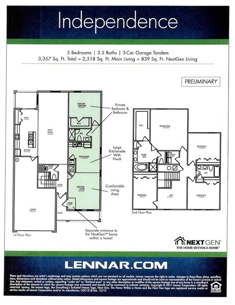 lennar nextgen homes floor plans nextgen homes bukit