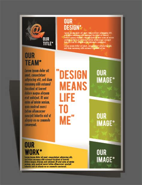 design flyers and brochures modern flyers and brochure design vector 05 vector cover