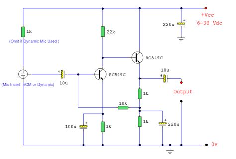 Mixer Audio Sederhana low noise pre microphone circuit schematic for high quality audio eltronicschool