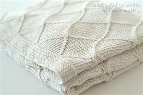 diamond pattern in knitting diamond baby blanket by rocket london craftsy