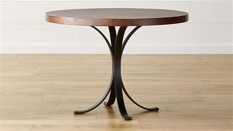 Next Bistro Table Cobre 42 Quot Iron Bistro Table With Copper Top Crate And Barrel