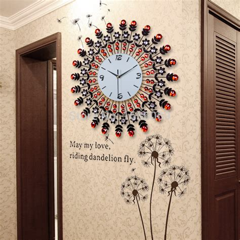 wall clocks for living room large fashion living room wall clock modern fashion
