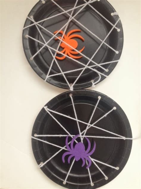 Paper Spider Craft - annelily design craft spider web plates