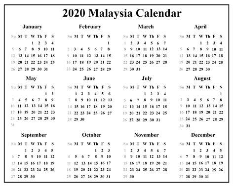blank malaysia calendar    excel word