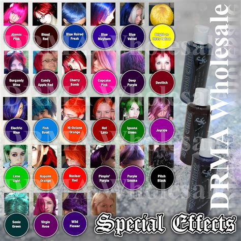 special effects hair color 4 pack special effects semi permanent vegan hair dye same
