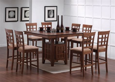 awesome high dining table sets on dining room table and