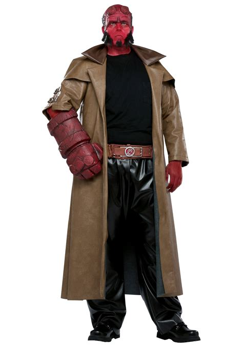 Scary Halloween Costumes For Men Hellboy Mens Costume Scary Superhero Halloween Costumes