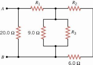 the drawing shows three resistors connected in parallel 1 determine the equivalent resistance between the chegg