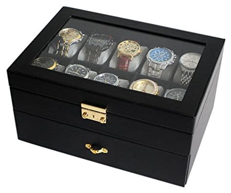 sodynee jewelry box mens watches deluxe cases large 20