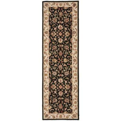 12 foot rug runners safavieh chelsea black 3 ft x 12 ft rug runner hk78a 312 the home depot