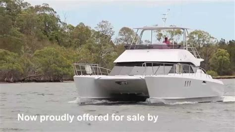 catamaran power sale stanyon 42 power catamaran sold by peter hansen yacht