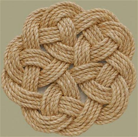 Ornamental Knotting And Weaving Of Thread - stonk knots design in rope woven rope mats