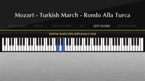 tutorial piano turkish march mozart turkish march easy piano tutorial youtube