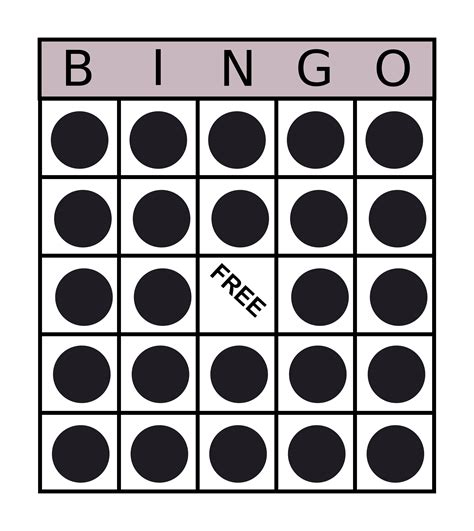 Bingo Card Template Png by Clipart Bingo Card