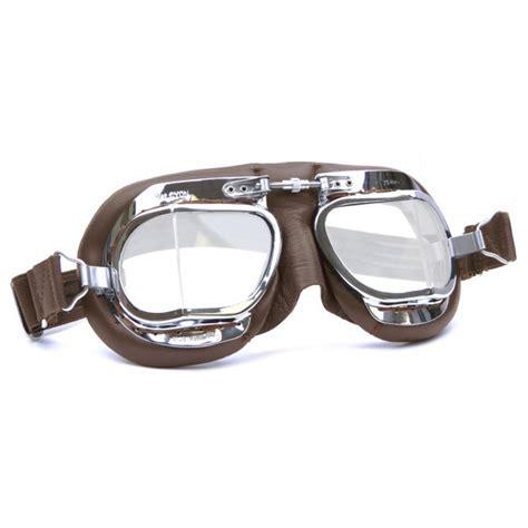 Motorradbrille Halcyon motorradbrille halcyon 49 compact chrome mit braunem