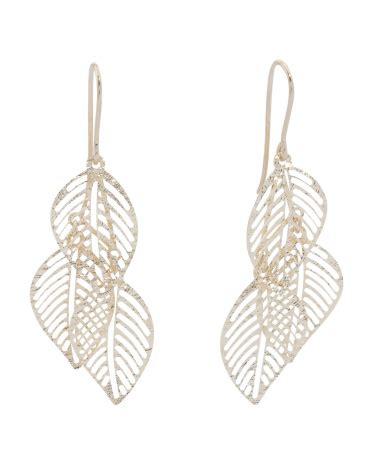 Tjmaxx Tjx Com Gift Card - made in italy 14k gold triple leaf earrings gold t j maxx