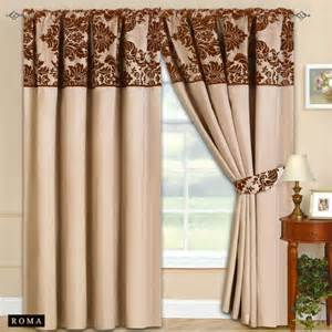 brown beige curtains new fully lined ready made top curtains beige with